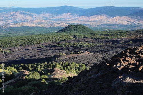 Volcanic Landscape With Maletto Mount In Etna Park, Sicily Tapéta, Fotótapéta
