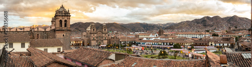 Fotomural  Views of the colonial part of the City of Cusco in Peru south america