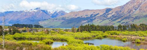 Obraz Glenorchy lagoon picturesque landscape, New Zealand - fototapety do salonu