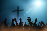 Christmas concept worship and praise God 3D render