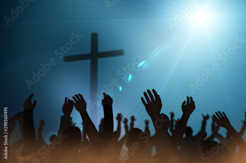 Photo Christmas concept worship and praise God 3D render