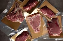 Raw Meat Vacuum-packed,  Steak...