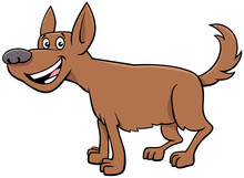 Cartoon Brown Dog Comic Animal...