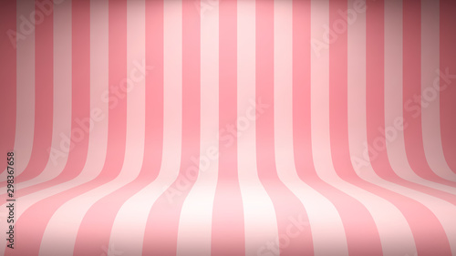 Tela Striped candy pink studio backdrop with empty space for your content