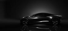 Sports Car In Dark Studio Envi...