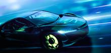 Futuristic High Speed Sports C...
