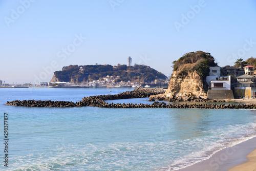 江の島 神奈川県鎌倉市腰越の風景 Canvas-taulu