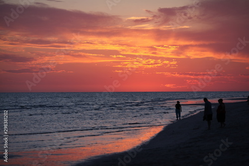 Walk on Florida Beach at Sunset