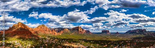 Sedona Arizona Panorama overlooking Red Rock State Park Canvas Print