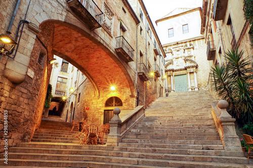 スペイン ジローナの町並み Canvas