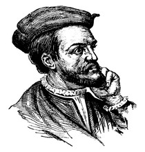 Jacques Cartier, Vintage Illustration