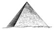 Great Pyramid of Giza, Egyptian architecture, vintage engraving.