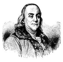 Benjamin Franklin, Vintage Ill...