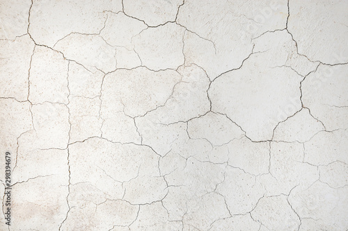 Leinwand Poster crack concrete wall or Cement wall background