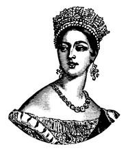 Queen Victoria, Vintage Illustration
