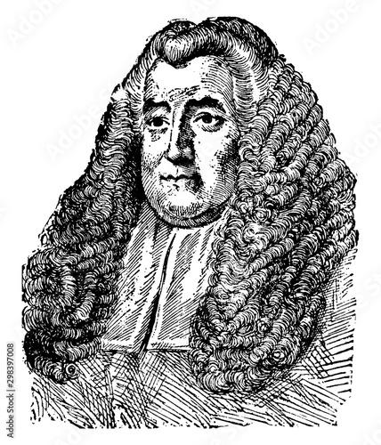 Tela Sir William Blackstone, vintage illustration
