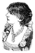Sarah Bernhardt, Vintage Illus...