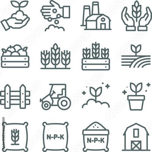 Farming icons set vector illustration Canvas Print