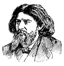 Alphonse Daudet, Vintage Illustration