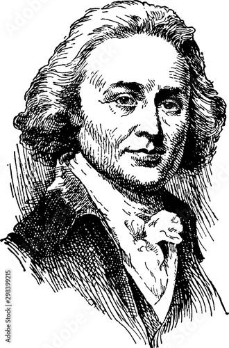 John Quincy Adams, vintage illustration Canvas Print