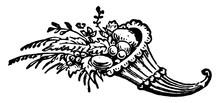 Cornicopia, Vintage Illustration