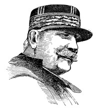 Marshal Joffre, Vintage Illustration