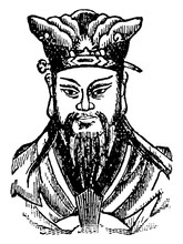 Confucius, Vintage Illustration