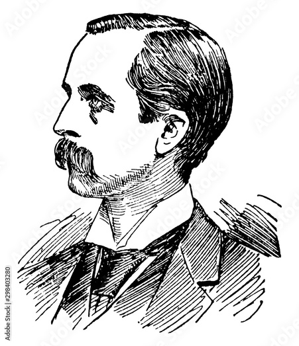Valokuva  James M. Barrie, vintage illustration