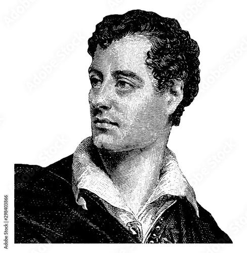 Photo Lord Byron (George Gordon Noel), vintage illustration