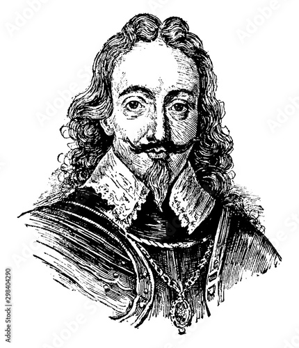 Photo  Charles I, vintage illustration