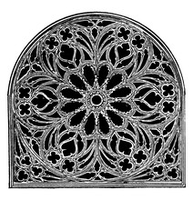 Rose Window, Church Of St. Oue...
