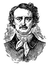 Edgar Allan Poe, Vintage Illustration
