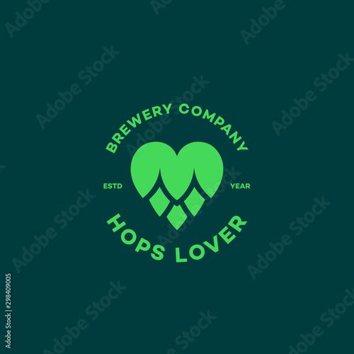Hops lover logo Canvas Print