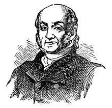 John Quincy Adams, Vintage Illustration