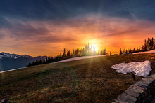 Sunset At Hurricane Ridge In O...