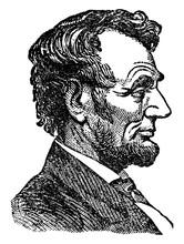 Abraham Lincoln, Vintage Illustration