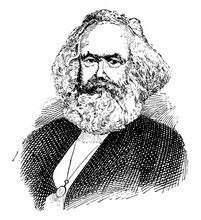 Karl Marx, Vintage Illustration