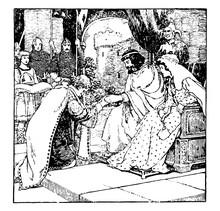 Ceremony Of Homage, Vintage Illustration