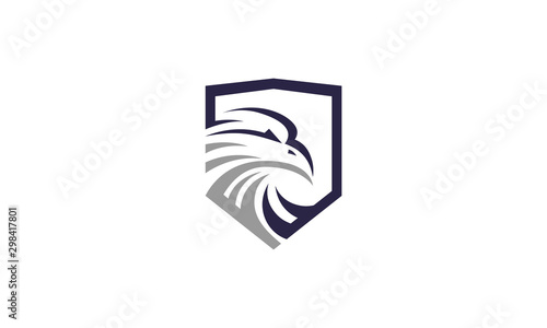 Fotografie, Obraz  eagle security logo design inspirations