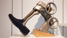 Vintage Shoe Stretching In Stretcher Shoes Machine