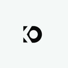 KO Initials Letter Logo Icon Vector Free Download