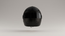 Black Motorcycle Helmet With Goggles 3d Illustration 3d Render