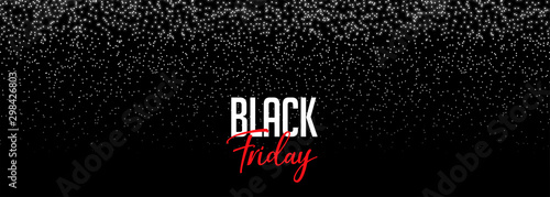 Obraz black friday banner with falling sparkles design - fototapety do salonu