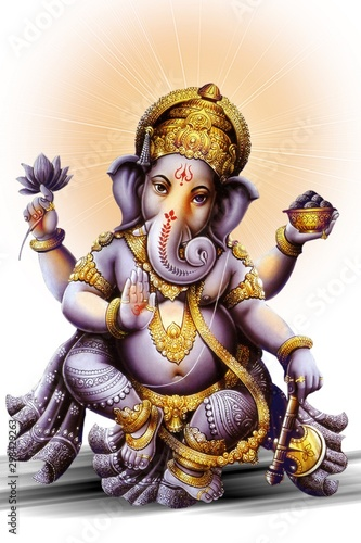 Photo Indian powerful God in Ganesh