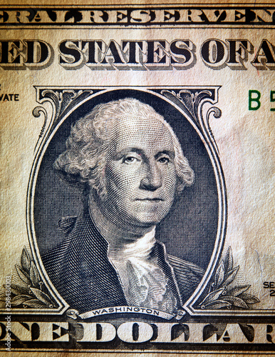 Dollar bill, close up view