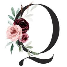 Alphabet, Letter Q With Waterc...