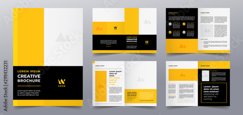 Fototapeta yellow business brochure pages template obraz