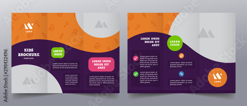 playful trifold brochure templates - 298432496