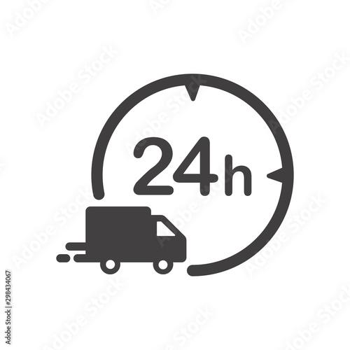 Fotografia, Obraz  Delivery in 24 hours icon