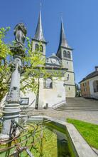 Hofkirche Catheral In Lucerne, Switzerland